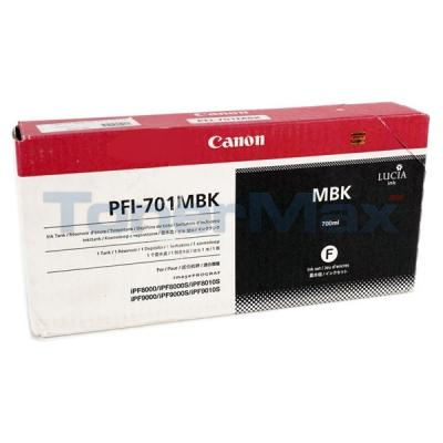 CANON PFI-701MBK INK MATTE BLACK 700ML